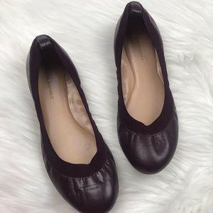 Banana Republic Abby Burgundy Leather Ballet Flat